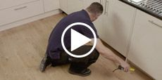 Video guide showing how to fit a plinth, cornice and pelmet to a kitchen
