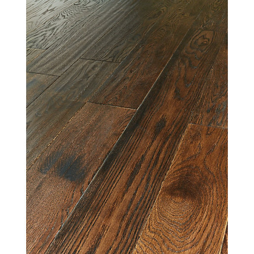 Mouse over image for a closer look. Wickes Gunstock Oak Real Wood Top Layer Engineered Wood Flooring