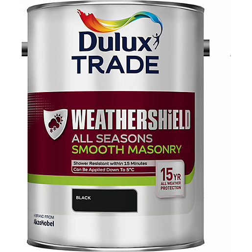 Dulux weathershield all seasons smooth masonry black 5l travis perkins - Dulux exterior masonry paint colours concept ...