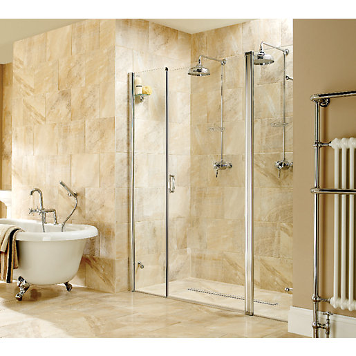 wickes wet room recess pivot door 1700mm