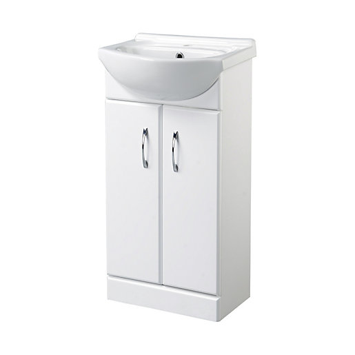 Wickes Cloakroom Vanity Unit Gloss White 425mm  Mouse over image for a  closer look. Wickes Cloakroom Vanity Unit Gloss White 425mm   Wickes co uk
