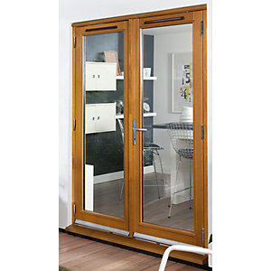 54mm french doors pattern 10 fully finished solid oak 5 ft for 5 foot exterior french doors
