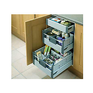 Kitchen base unit storage solutions benchmarx kitchens for Kitchen base unit shelf