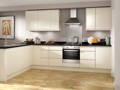 Madison Cream High Gloss Handleless