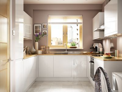 Madison White High Gloss Handleless
