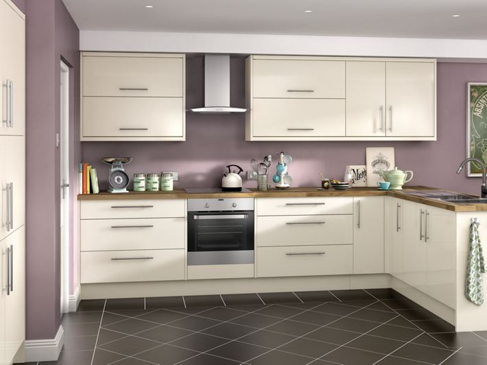 orlando cream high gloss kitchen wickes co uk
