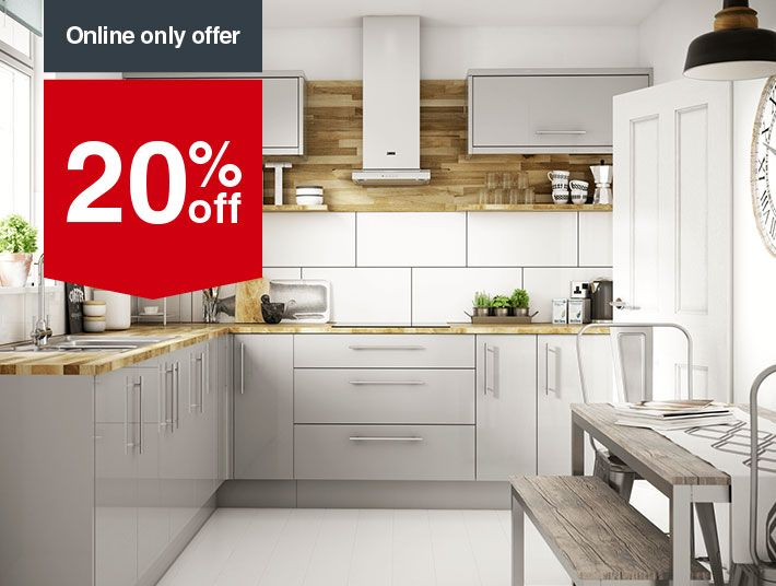 Orlando Grey Kitchen Wickes