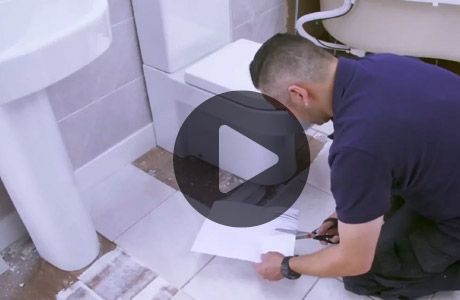 How To Tile Around A Toilet Part 11