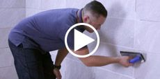 Video guide to grouting