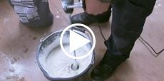 Video guide to mixing grout