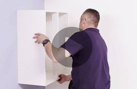 How to hang a wall cabinet
