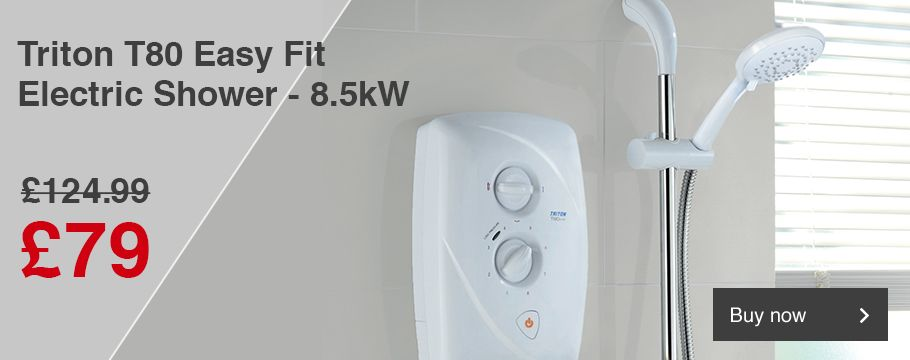 Triton T80 Easy Fit Electric Shower - 8.5kW