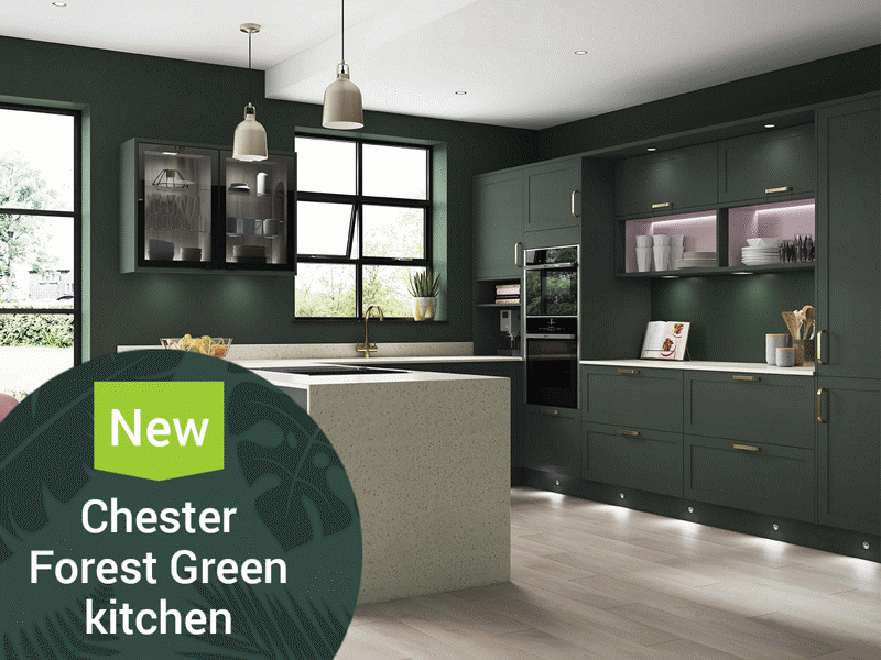 New Chester Forest Green Kitchen