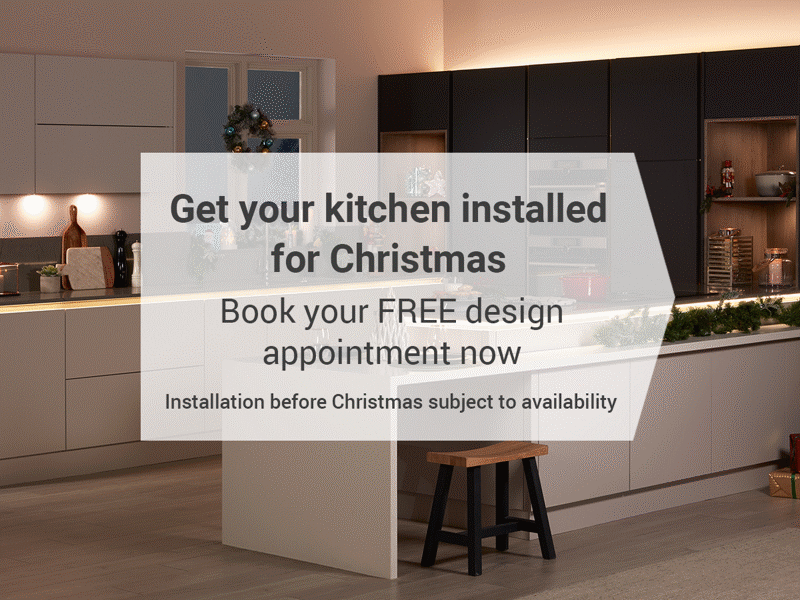 Get your Kitchen installed before Christmas