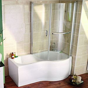 bath screens shower screens wickes mirabella frameless bath shower screen hugo oliver