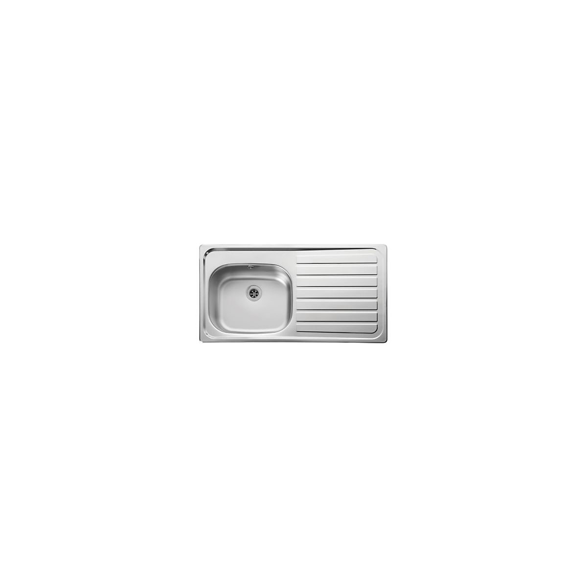 Leisure Lexin 2 Tap Hole 1 Bowl Right Hand Stainless Steel Inset ...