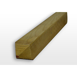 Pointed Timber Pegs Sawn and Treated 47mm x 50mm x 450 mm