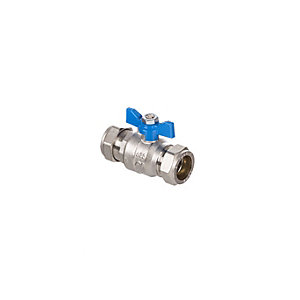 Altecnic AI-373222 Intaball Compression Ball Valve Blue T Bar Handle 22mm