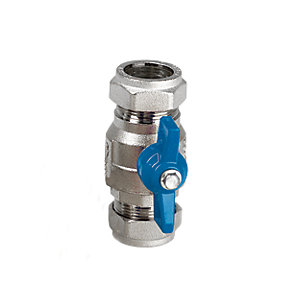 Altecnic AI-373228 Intaball Compression Ball Valve Blue T Bar Handle 28mm