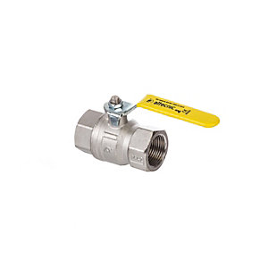 Altecnic AI-033106 Intaball Female x Female Ball Valve Yellow Lever (Gas) 1in