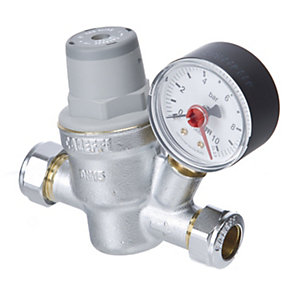Altecnic 15mm Pressure Reducing Valve Complete with Gauge 533841H