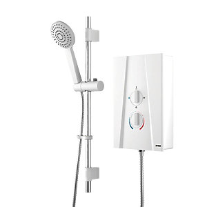 Wickes Hydro Plus Electric Shower White 9.5kW