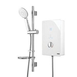 Wickes Hydro Touch Control Electric Shower White 8.5kW