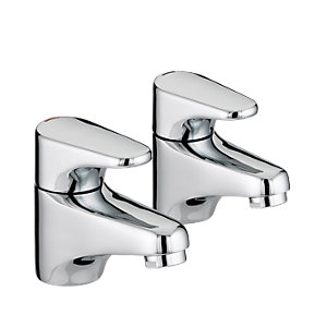 Bristan Jute Basin Taps Chrome JU1/2C