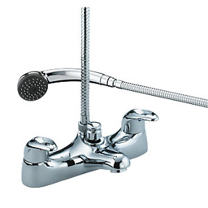 Bristan Java Deck Mounted Bath Shower Mixer Tap & Kit Chrome