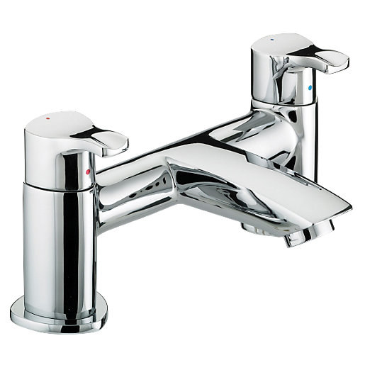Capri Pillar Bath Filler Chrome