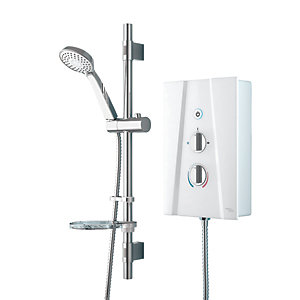 iflo Thirle Thermostatic Electric Shower 9.5kW White