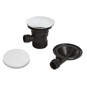Round Clicker Bath Waste & Overflow C W BATH03 C