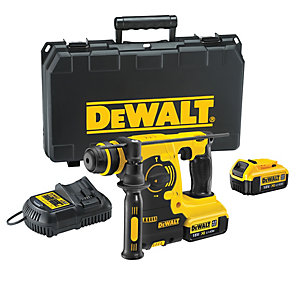 DeWalt XR 18V Cordless SDS Plus 3 Mode Rotary Hammer Drill - Includes 2 X 4.0AH Batteries DCH253M2-GB