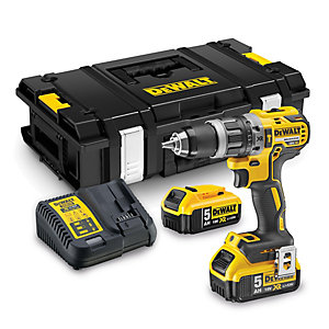 """DeWalt DCD796P2 Combi Drill 18 Volt Xr Brushless Compact Lithium-ion Complete with 2 x 5.0AH Batteries, Charger and Tstak Kitbox"""""""