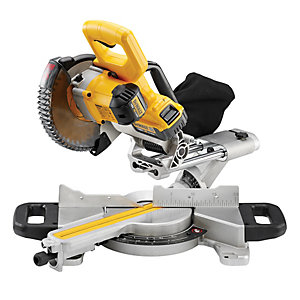 DeWalt DCS365m2 Mitre Saw 18V Cordless 184mm Complete with 2 x 4AH Batteries, Charger and Saw Blade