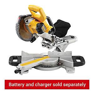 DeWalt 18V Cordless 184mm Li-Ion XR Mitre Saw Body Only Bare DCS365N-XJ