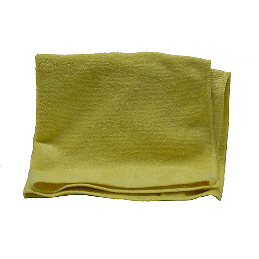 Heavy Duty Colour Coded Microfibre Cloth Yellow Pack of 5