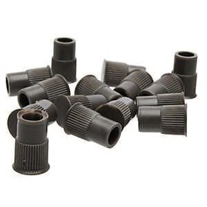 Dryzone Injection Plugs Brown Pack of 100