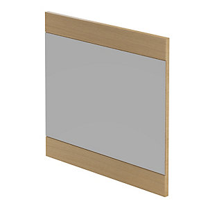 Be Modern Linear Mirror Light Oak 600x550mm