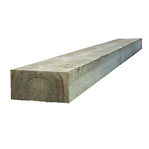 Travis Perkins Incised Treated Timber Sleeper Green 100mm x 200mm x 2.4M (Minimum Order Qty of 2)