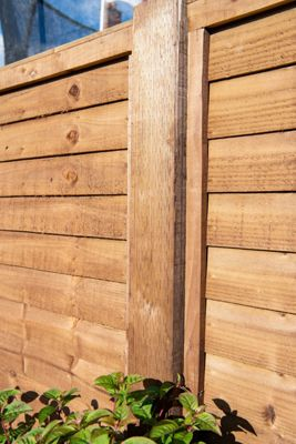 Treated Incised Uc4 Fence Post Brown 75mm X 75mm Travis Perkins