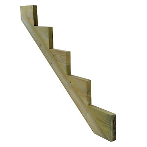 Treated 5 Step Stair String 35 Degree 48 x 260 x 1674mm