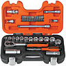 Bahco 1/4 + 3/8 Square Drive Socket Set 33 Piece BAHS330