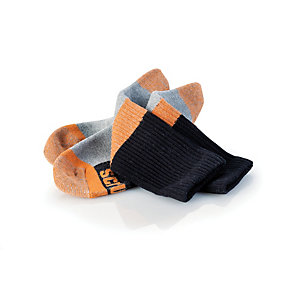 Scruffs Trade Socks Black Universal Size Pack 3