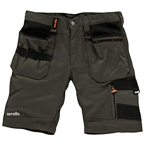 Scruffs Slate Trade Shorts 34in