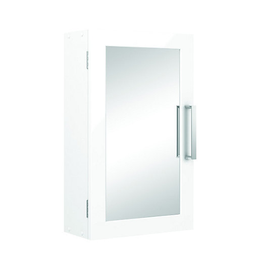 wickes bathroom single mirror cabinet white 300mm wickes 21658