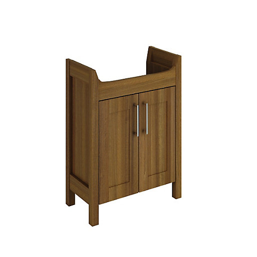 white bathroom furniture freestanding wickes frontera freestanding vanity unit walnut 650mm 21424