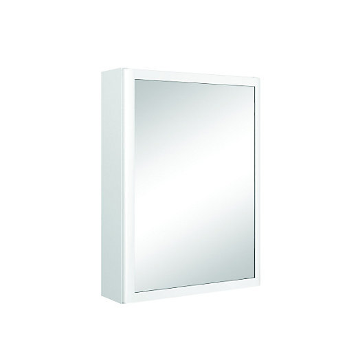 wickes bathroom mirror cabinets wickes bettona bathroom curved mirror cabinet 550mm 21658
