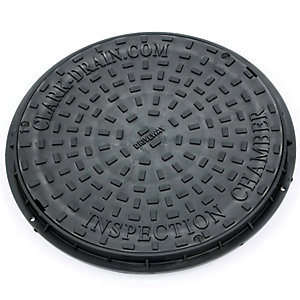 Clark Drain Dual Locking Polypropylene Inspection Chamber Cover and Frame Driveway 450mm Diameter