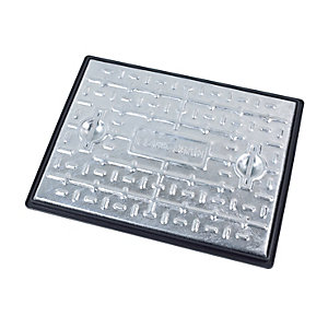 Clark-Drain Manhole Cover and Frame 600mm x 450mm x 25 Tonne Galvanised Steel PC6EG